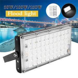 50-100-150W-LED-Floodlight-Lampe-Projecteur-Lumiere-Outdoor-Jardin-Securite-IP65
