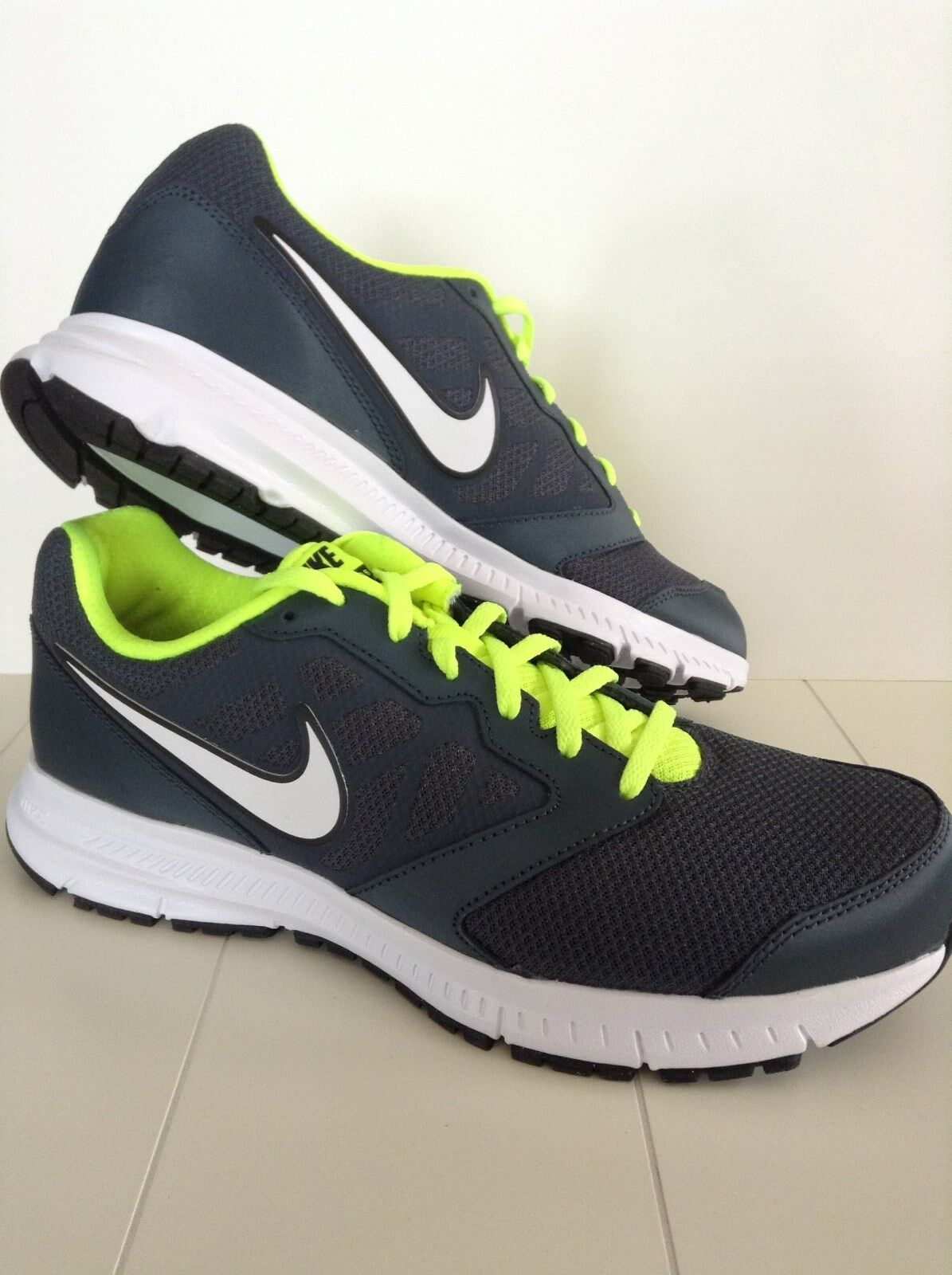 New Nike Mens Sneakers/Shoes Downshefter 6 Grey/White/Volt Sz 9.5, 10 or 11 Mesh The latest discount shoes for men and women
