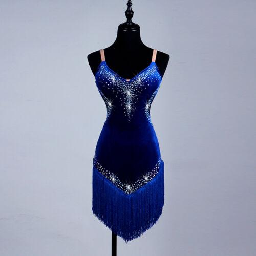 Ballroom Women/'s Lady/'s tassel Latin Tango Salsa Samba Competition Dance Dress
