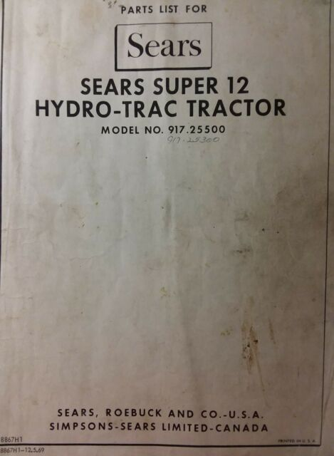 vintage sears ss12 super 12 suburban garden tractor