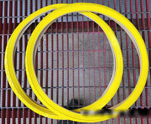"""1 Pair of Duro 26/""""x1.50/"""" All Yellow Tire for Beach Cruiser Bicycle"""