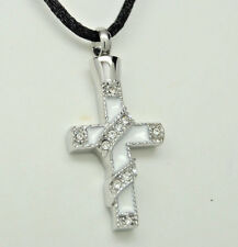 WHITE CROSS CREMATION JEWELRY CREMATION URN NECKLACE MEMORIAL KEEPSAKE PENDANT