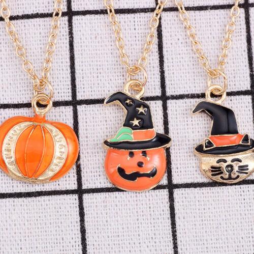 Pumpkin Hat Halloween Magician Jewelry Pendant Necklace Women Kids Gifts Hot CN