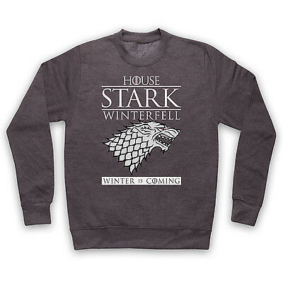 HOUSE STARK UNOFFICIAL GAME OF THRONES SWEATER JUMPER TOP ADULTS KIDS SIZES COLS