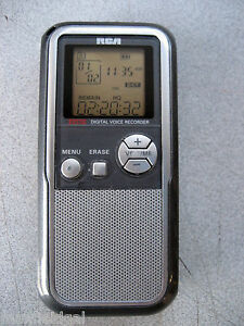 slightly used rca rp5022 64 mb voice recorder w usb 26 hrs rh ebay com RCA VR5220 Instruction Manual RCA RP5022B User Manual