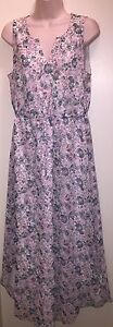 LC-by-LAUREN-CONRAD-Women-039-s-Floral-Shirttail-Hem-Maxi-Dress-034-BLYTHE-BLOOMS-034-12-NWT