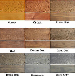 Details About Safeway Exterior Woodstain Fence Shed Decking Wood Stain Dye Makes 5l