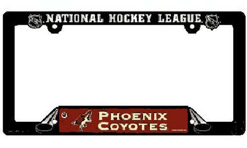 NHL® Phoenix Coyotes Plastic License Plate Holder SUPPORT YOUR TEAM