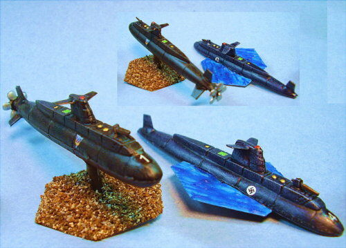 Battletech painted Neptune Submarines Unique
