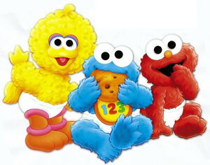 6 10 5 Elmo Sesame Street Babies Baby Wall Safe Sticker Border Cut