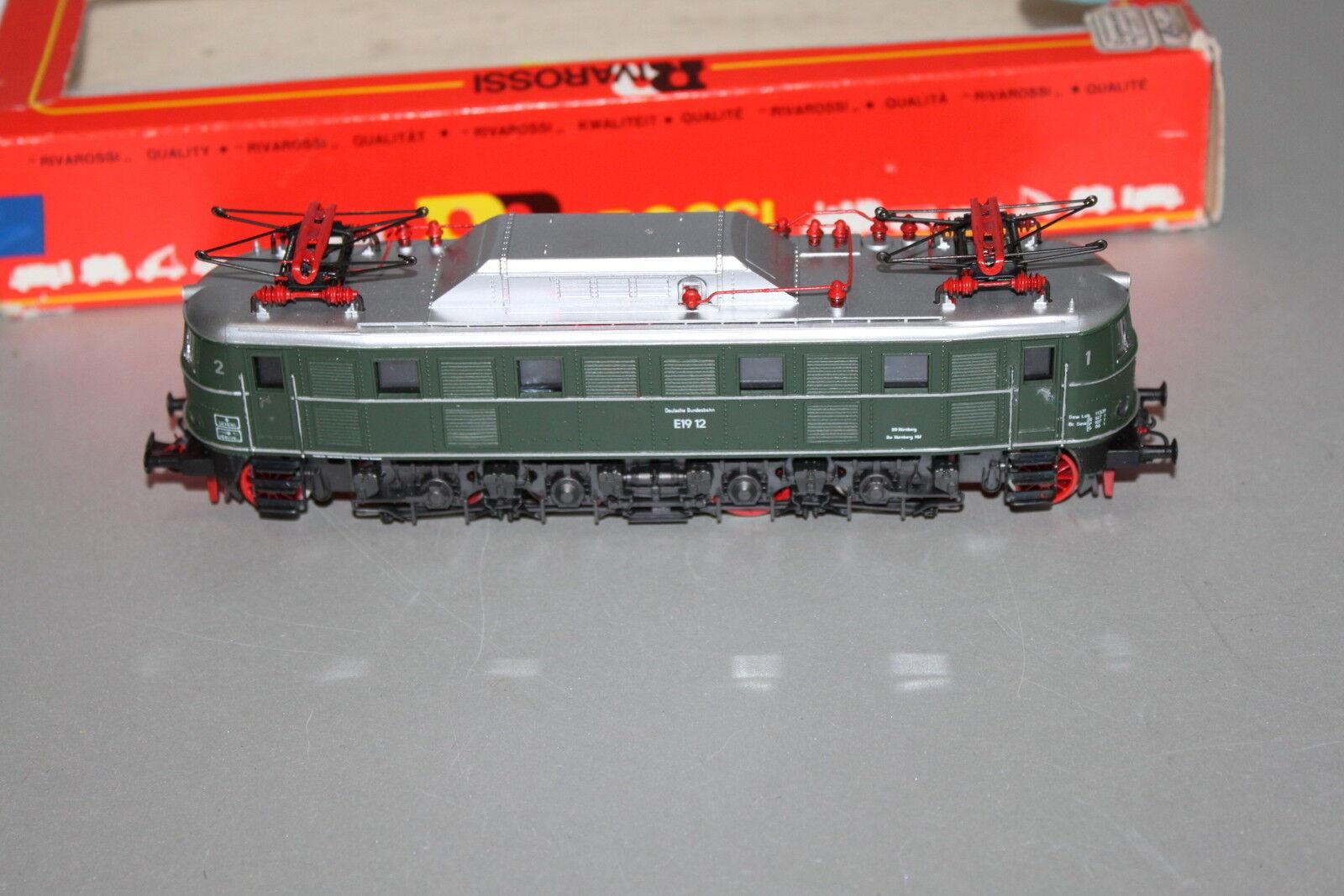 Rivarossi 1667 Locomotora Eléctrica Serie E19 12DB verde Escala H0 Emb.orig
