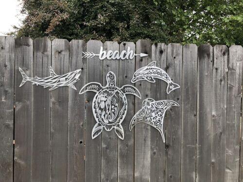 Mermaid metal wall art home decor decor metal cutout Beach Sea Life