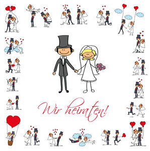 10-St-drole-Invitations-de-mariage-avec-Enveloppes-drole-langue-source-amp-doux