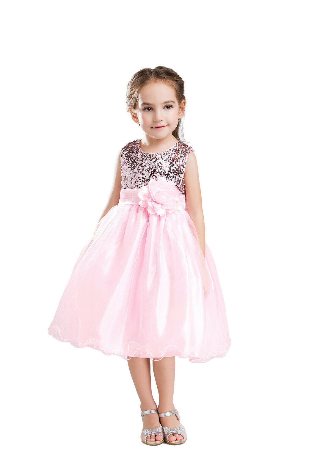 ELSA & ANNA® Girl Princess Wedding Bridesmaid Party Dress Costume Outfit PDPNK03