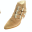 thumbnail 5 - ASOS Ryder Suede Buckle Western Taupe Ankle Boots 3 Retail £65