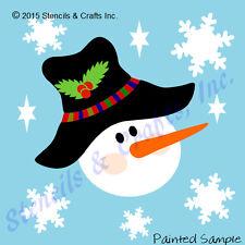 Snowman Face Stencil Christmas Snowflakes Stencils Template Paint Craft