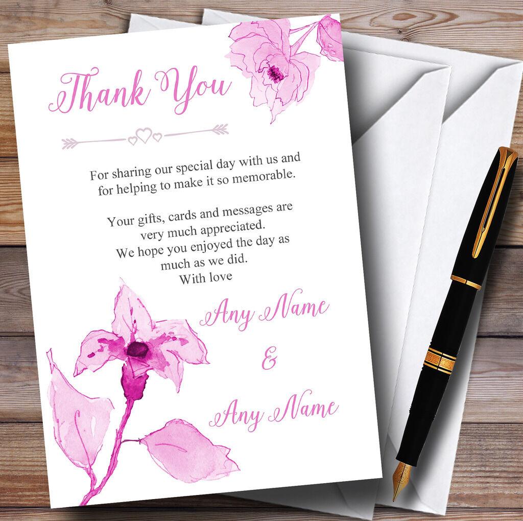 BELLISSIMO Acquerello di di di Dusty rosa rosa Matrimonio Personalizzati Ringraziamenti 6c7401