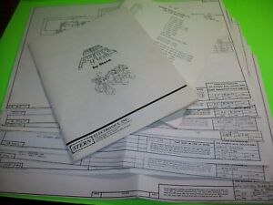Stern-WILD-FYRE-Original-Pinball-Machine-Manual-And-Schematics-Memory-Lane-1978