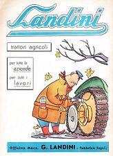 PUBBL. 1955 TRATTORI AGRICOLI OFFICINE MECCANICHE LANDINI FABBRICO REGGIO EMILIA