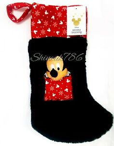 Disney-Mickey-Mouse-3D-CHRISTMAS-STOCKING-sock-furry-Hanging-Primark-Home-BNWT