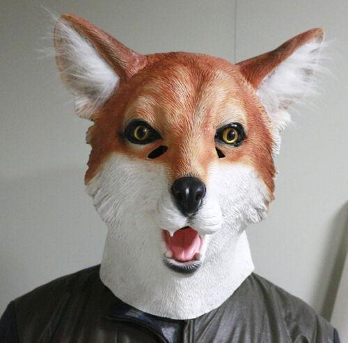 Fox Mask Movie Foxy Animal Dog Mask Fancy Dress Stag Party Costume