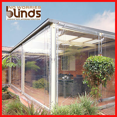 2 X 180 X 240 White Bistro Cafe Blinds Pvc Patio Outdoor