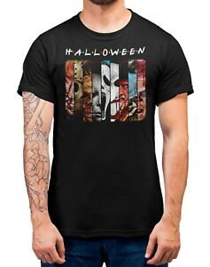 Halloween-T-Shirt-All-Movie-Characters-Friends-Style-Unisex-Men-039-s-Shirt