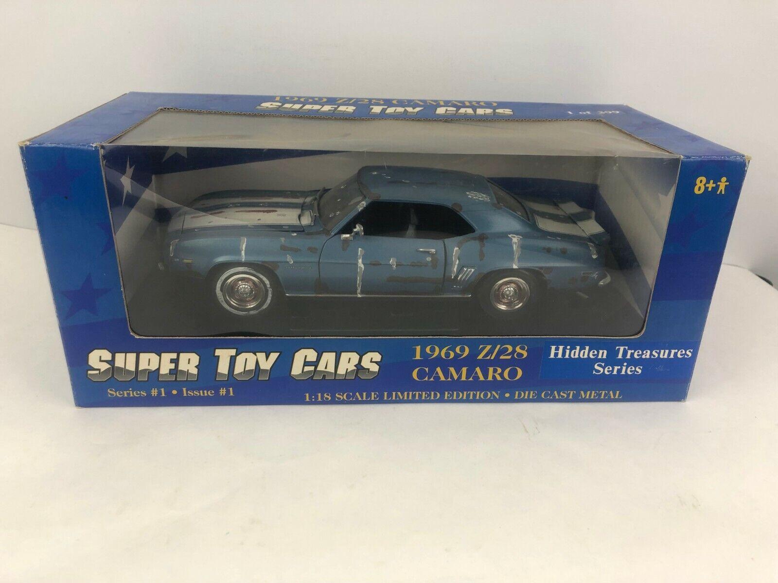 Super Toy Cars ERTL 1969 Z 28 Camaro Trésors cachés 1 de 399 1 18  29150