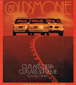 Details about 1987 Oldsmobile CUTLASS CIERA/SUPREME/Cruiser  Brochure/Catalog with COLOR CHART