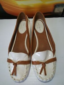 Kate Spade White Patent Leather Ballet