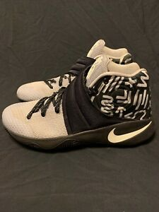 buy online e039e 99950 Details about Nike ID Kyrie 2 Grey/Black Men's Athletic Basketball Shoes  Size 10 Eur 44