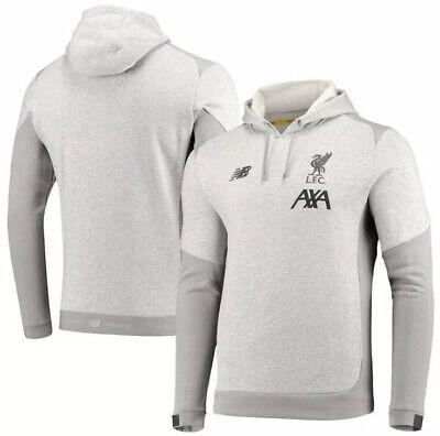 New Balance Liverpool Fc 2019 20 Gray Overhead Hoody Hoodie Sweatshirt Small New Ebay