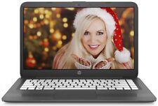 HP Stream 14 inch Lightweight Laptop Intel 2.48GHz 4GB 32GB SSD WebCam WiFi HDMI