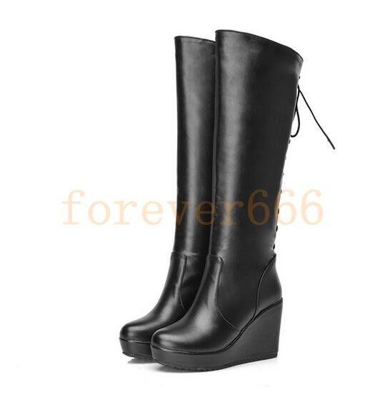 NEU Heel Blockabsatz Schuhe Stiefel Stretch Damen Overkneestiefel High Heel NEU f135e6