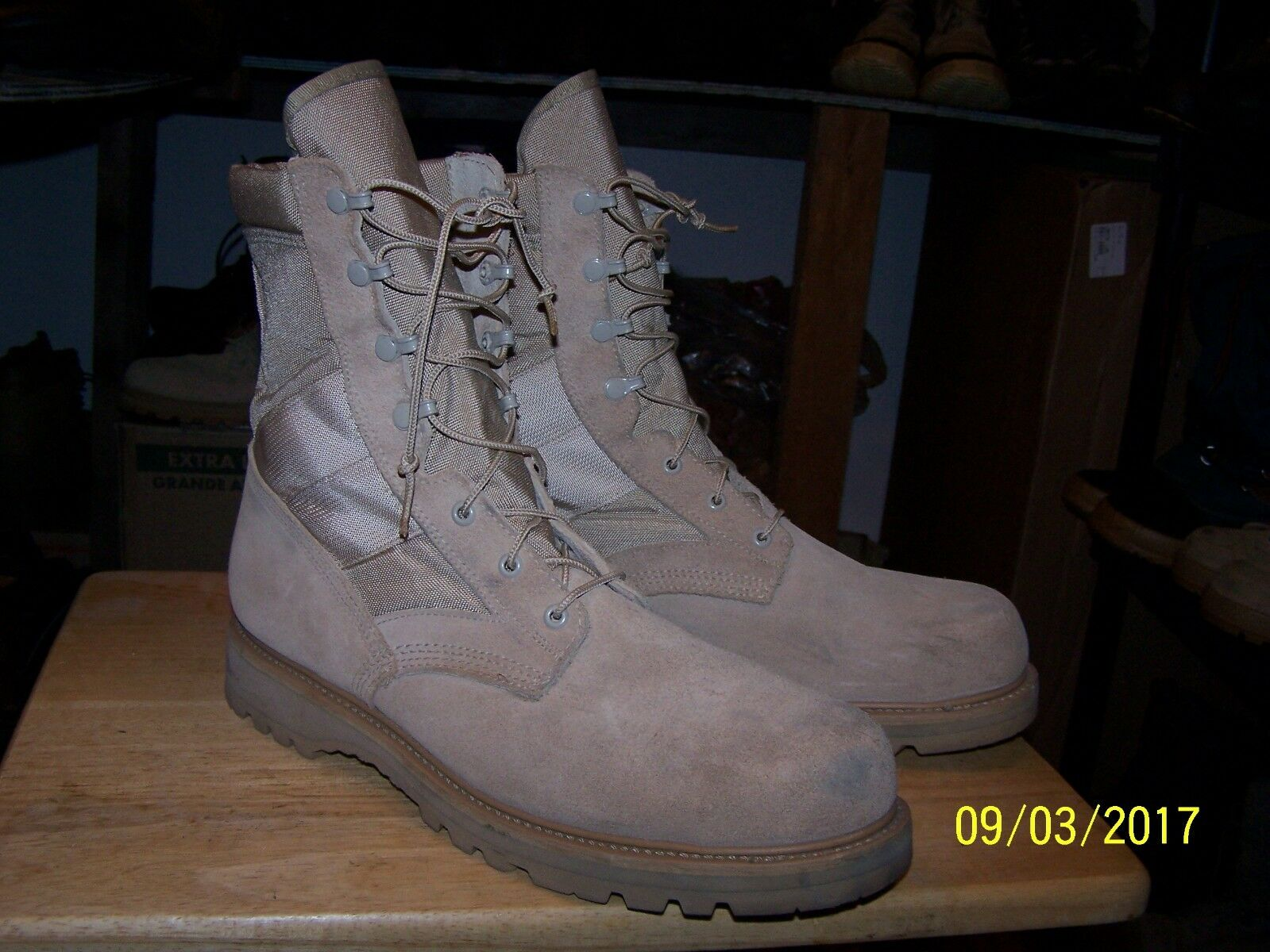 Thgoldgood military combat boots mens 14.5M spec ops navy seals 14.5R steel toe