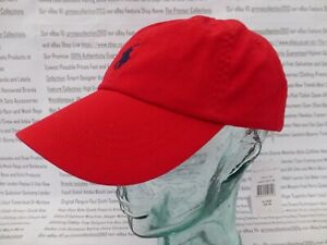low priced ebce3 d436b Details zu POLO RALPH LAUREN Baseball Cap Men's Red Hat Classic Cotton  Sport Caps BNWT R£39