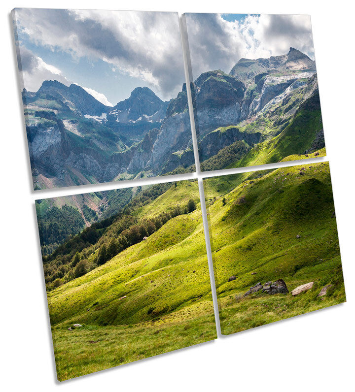 FRENCH Pirenei montagne Multi Canvas Wall Wall Wall Art quadrato foto 3c86d7