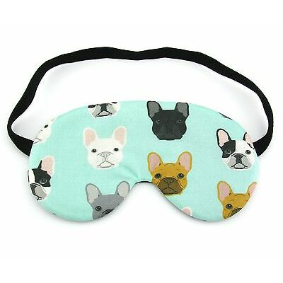 French Bulldog on Mint Sleep Eye Mask, Sleeping Eye Mask, Night Mask Travel Gift