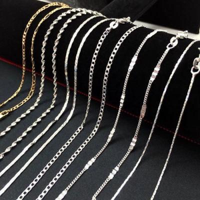 16 30 Multiple Chain Women Men 925 Silver Necklace Jewelry Lot Gift Ebay