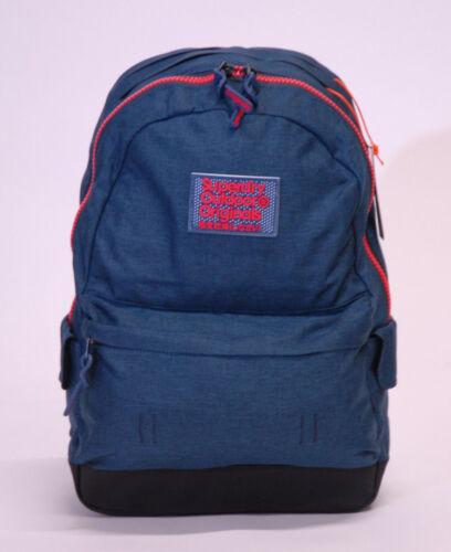 Superdry Mens Rucksack Backpack School Bag Padded Straps Montana Black Navy