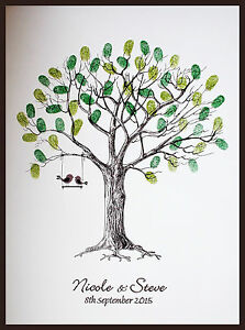 Personalised-Wedding-Fingerprint-Thumbprint-Tree-Alternative-Guest-Book-Gift