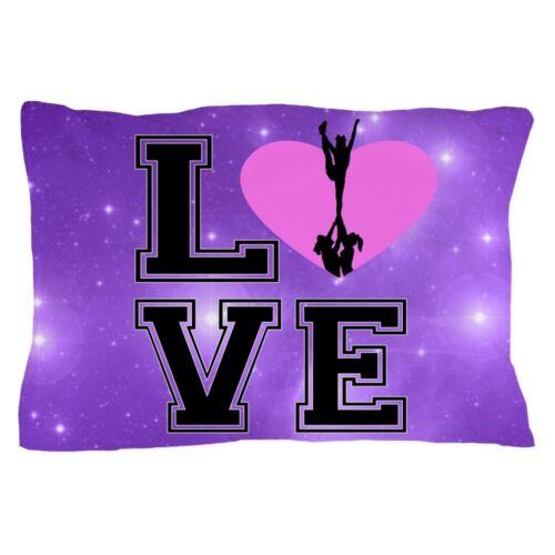 1277886778 CafePress Love Cheerleading Purple Pillow Case