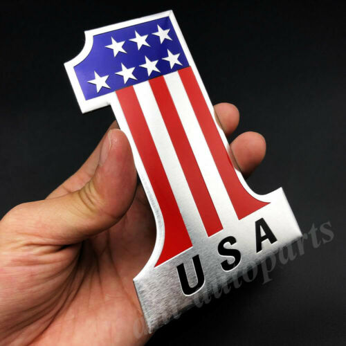 Metal USA American NO.1 Flag Emblem Car Badge Motorcycle Gas Tank Decals Sticker