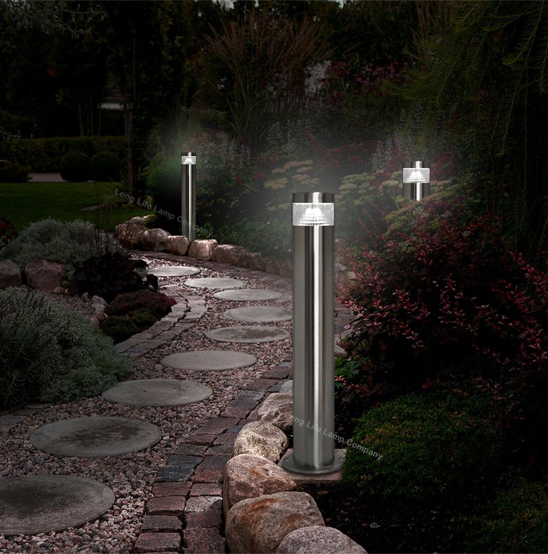 Modern Stainless Steel Led 12 Volt Bollard Garden Post