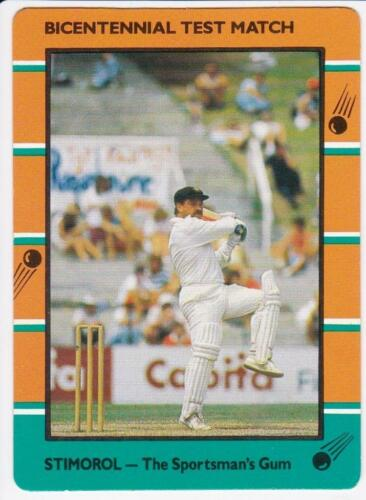 1988-90 Stimorol, Scanlens Cricket Card - Bicentennial Test Match, #66