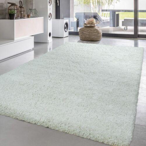 Hochflor Wohnzimmer Teppich Weiß Shaggy Flauschig Kuschelig Strapazierfähig