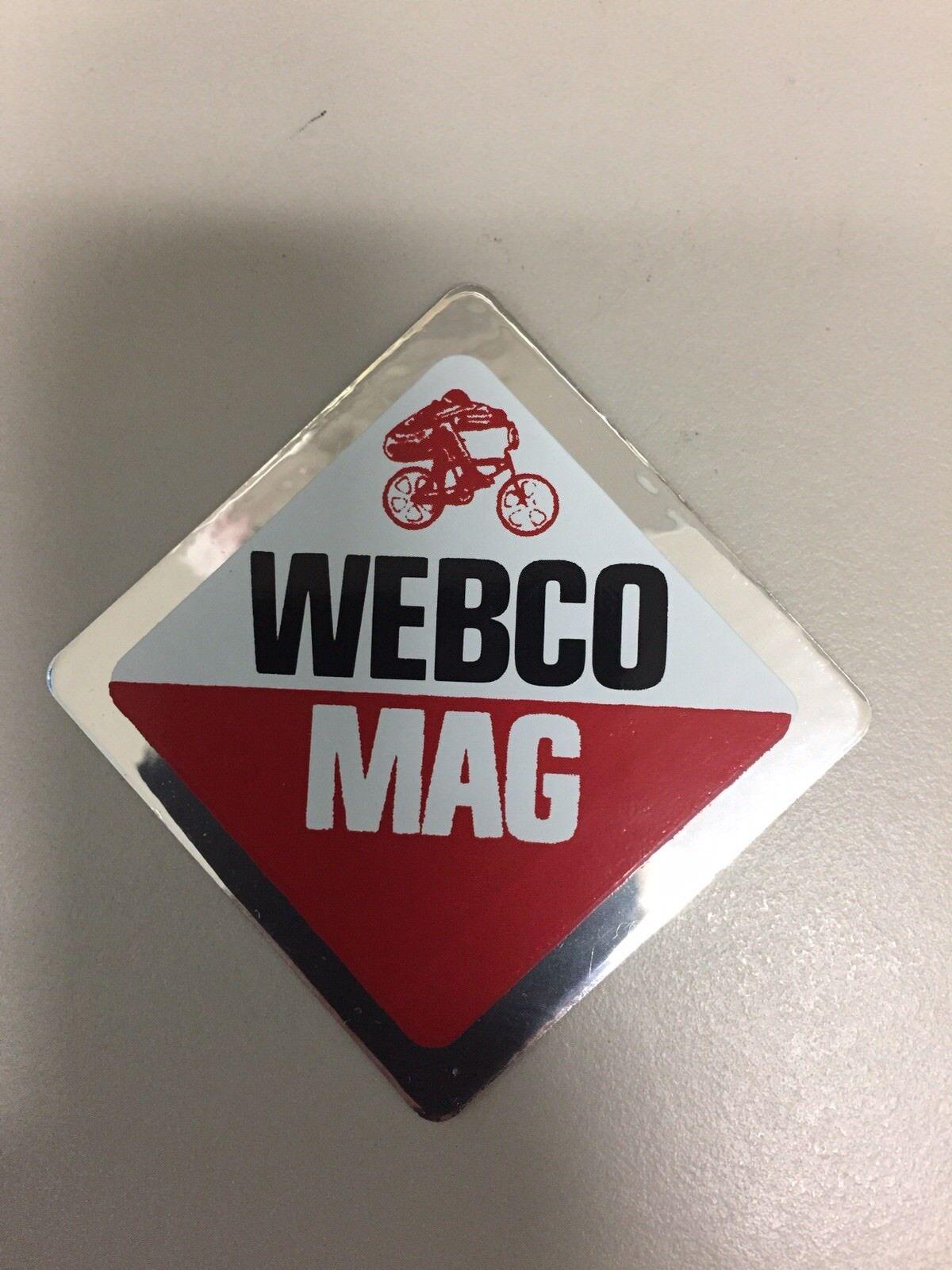 Original NOS Webco MAG Wheels Bicycle Decal From Old Webco Inventory