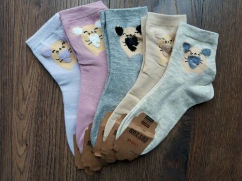Ladies Soft Cotton Ritch Socks Mouse Womans Fluffy