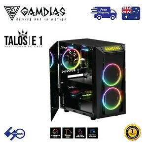 PC-Computer-Case-Gamdias-Talos-E1-Tempered-Glass-Micro-ATX-with-2x120mm-ARGB-Fan
