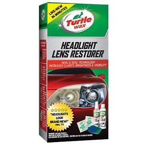 Turtle Wax Headlight Lens Restoration Kit Car Headlamp Cleaner